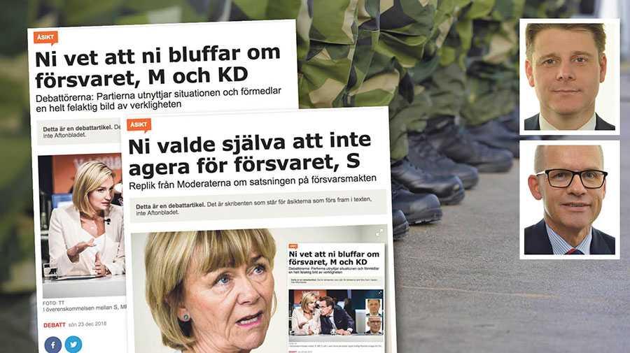 Men i ivern att svartmåla oss socialdemokrater, svärtar Moderaterna samtidigt ner sina kollegor i Centerpartiet och Liberalerna, skriver Niklas Karlsson och ClasGöran Carlsson.
