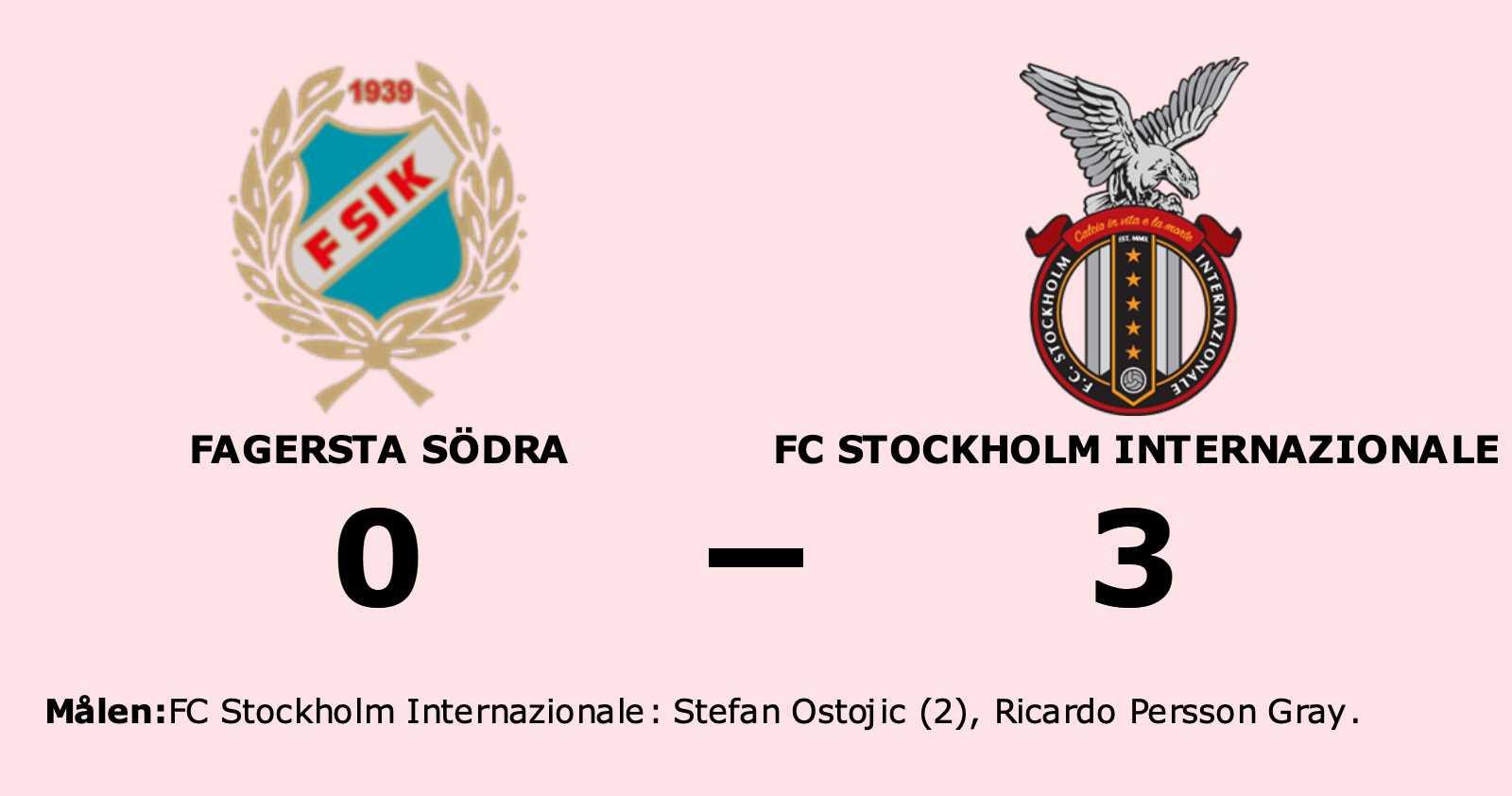 Stefan Ostojic gjorde två mål när FC Stockholm Internazionale vann