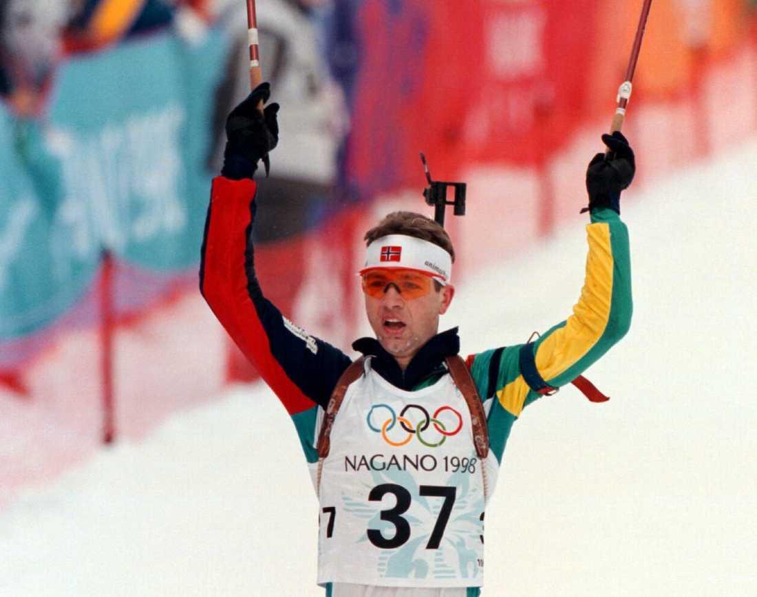 Björndalen efter OS-guld i Nagano 1998 (!).