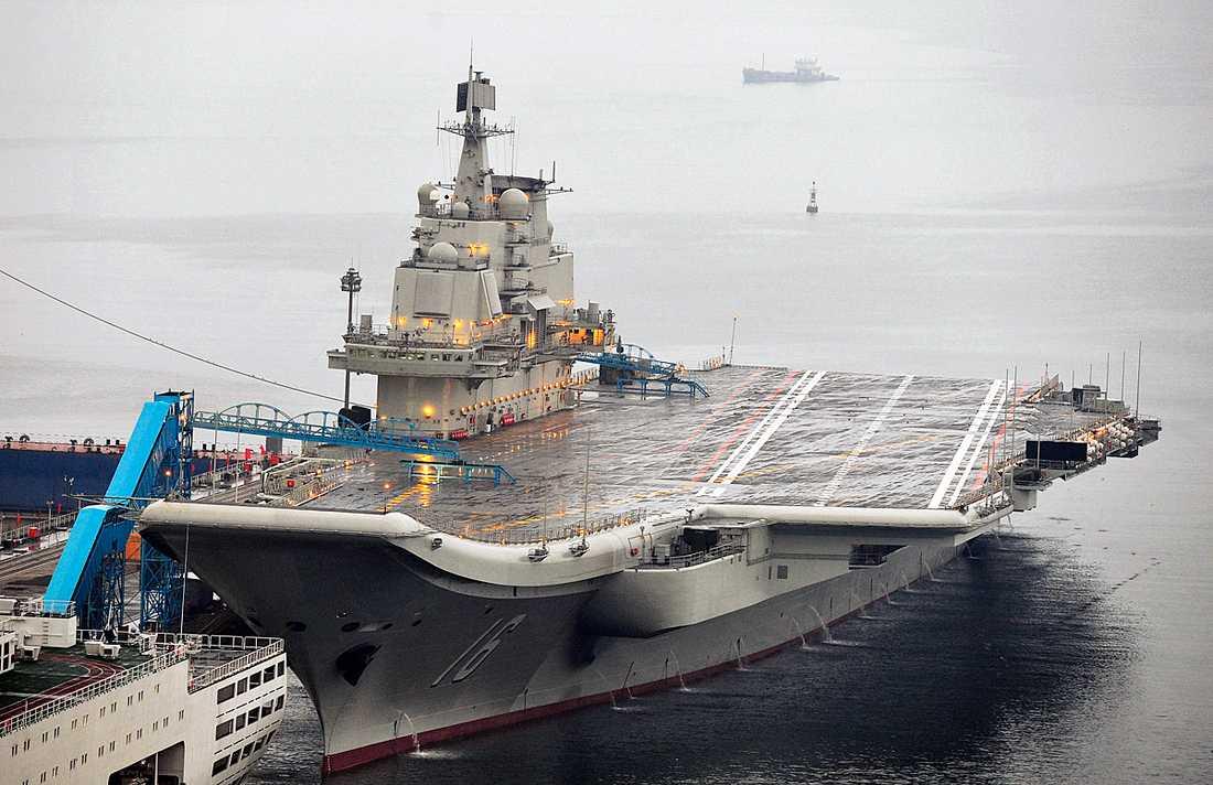 Hangarfartyget är från 1998 och köptes från Ukraina.