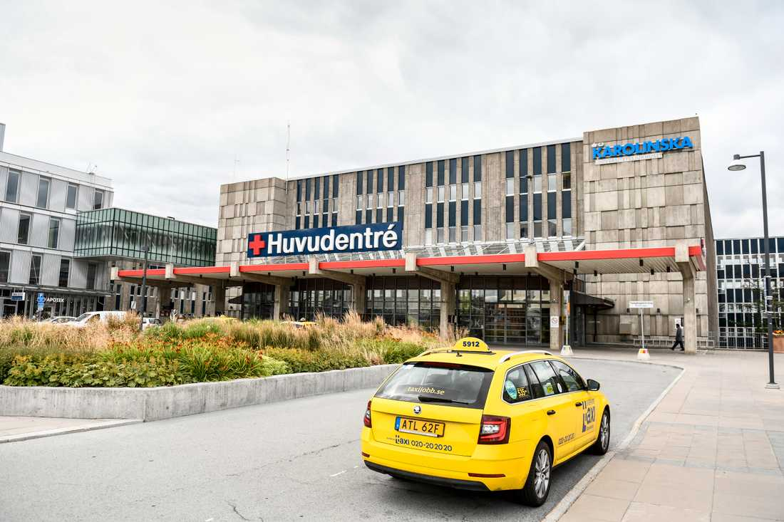 Karolinska Universitetssjukhuset i Huddinge kommun söder om Stockholm. Arkivbild.