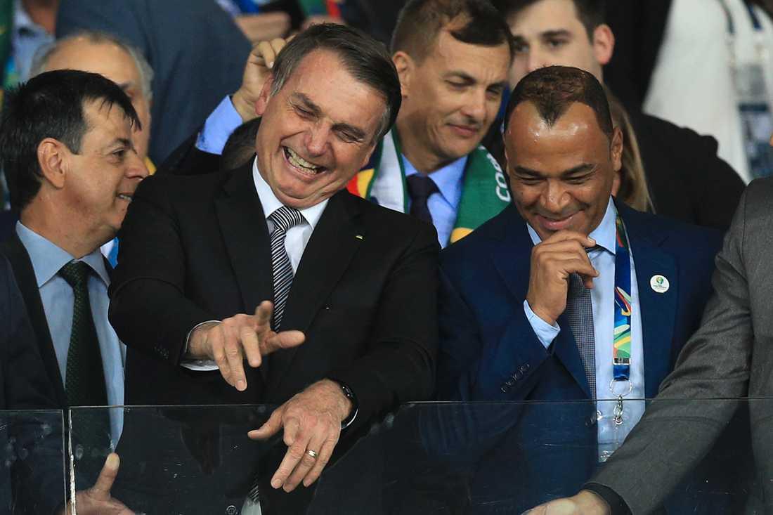 Brasiliens president Jair Bolsonaro på Copa America Brazil.