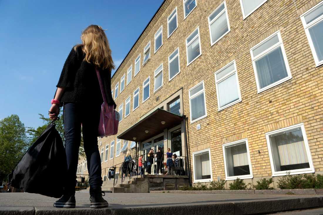 Anmälningarna om våld och hot i skolan fortsätter att öka. Arkivbild.