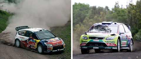 Just nu är rally-VM en kamp mellan de båda franska Citroënförarna Sébastien Loeb och Sébastien Ogier, samt finländarna, tillika Fordförarna Mikko Hirvonen och Jari-Matti Latvala.