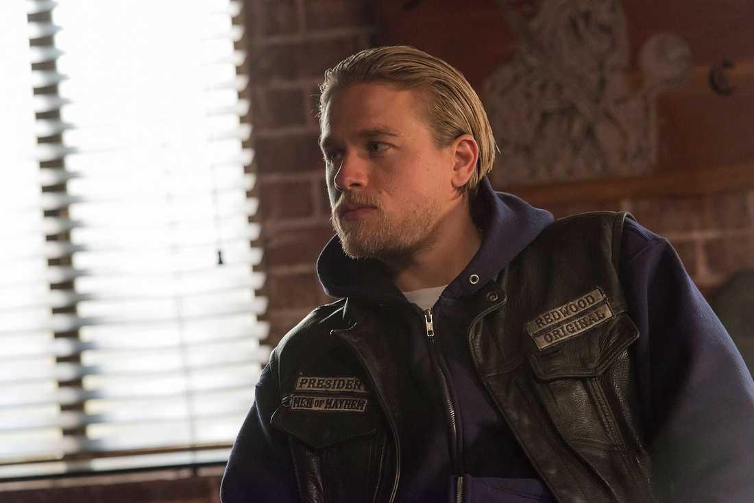 """Charlie Hunnam som """"Jackson 'Jax' Teller"""" i tv-serien """"Sons of anarchy""""."""