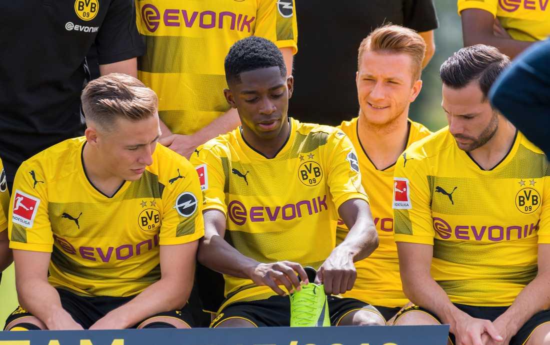Ousmane Dembele på Dortmunds lagfoto inför säsongen.