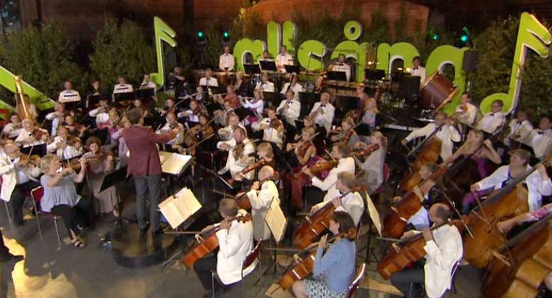 Sveriges Radios Symfoniorkester var på plats.