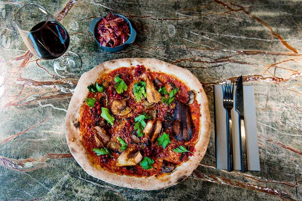 Pizza med renkött