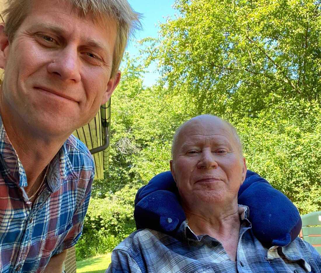 Thomas Anderssons far Jan Andersson tillfrisknade från covid-19 i våras tack vare sonens larm i media.