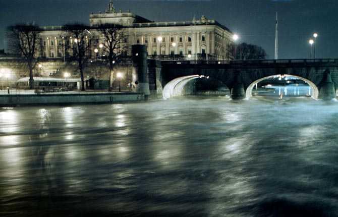 Drabbas om havsnivån stiger med sex meter Riksdaghuset, Stockholm.