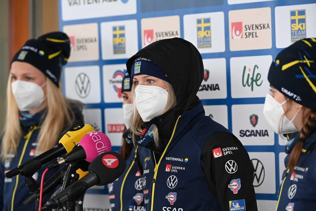 Svenska laget på tremilen.