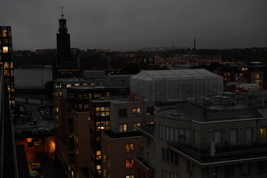 Stockholm klockan 08.55.
