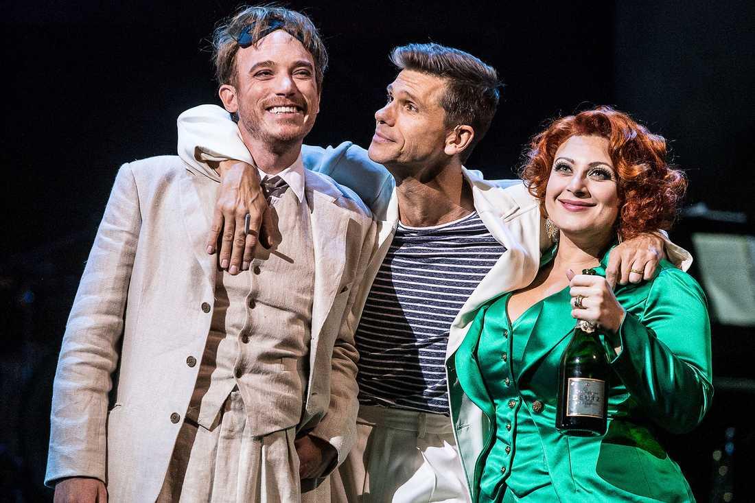 Albin Flinkas, Lars Bethke och Sarah Dawn Fineri Cabaret.