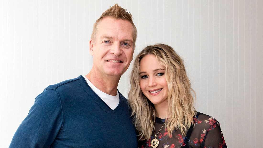 Nöjesbladets Magnus Sundholm möter Jennifer Lawrence.