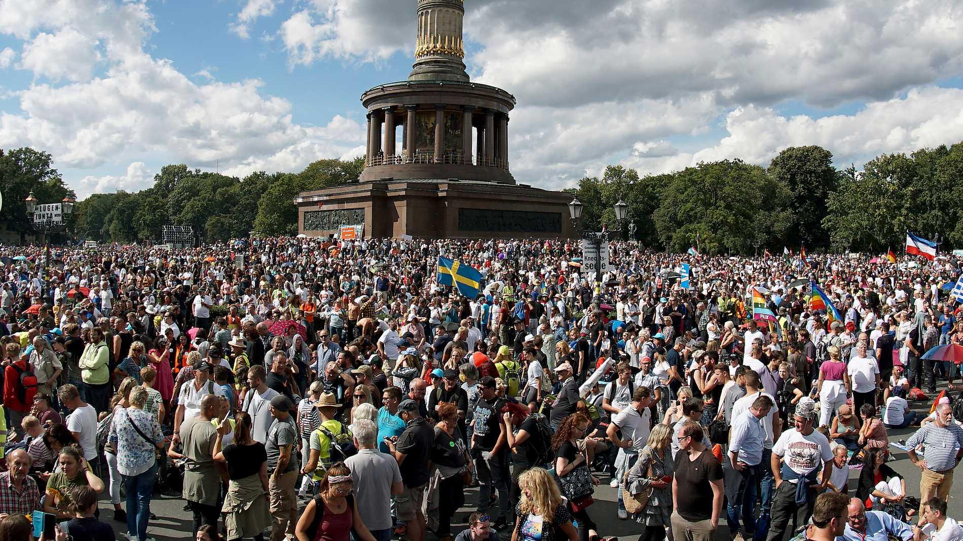 Tyska covidskeptikerna drömmer om Sverige