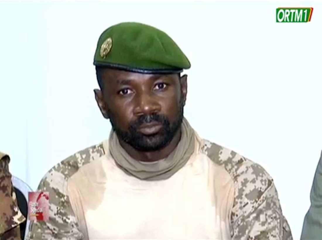 Malis juntaledare Assimi Goïta föreslås bli interimsvicepresident.
