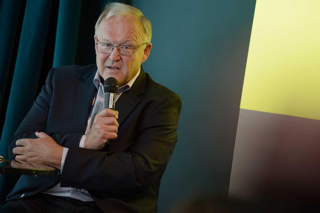 Göran Persson under  boklansering 2018.