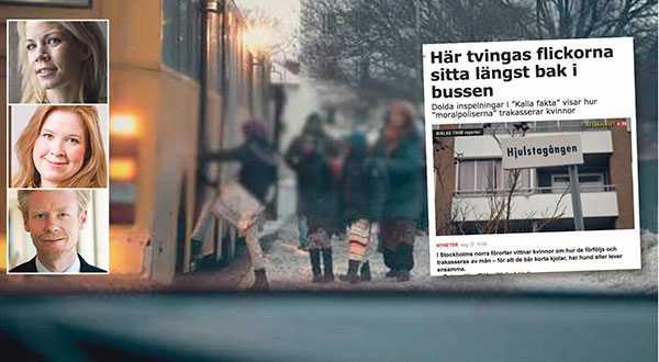 """""""Kalla fakta"""" avslöjar i kväll att barn separeras på skolbussen på väg till den religiösa friskolan. De parallella samhällen och de otidsenliga könsstrukturer som växt fram måste bekämpas. Svensk lag ska gälla. , skriver debattörerna."""