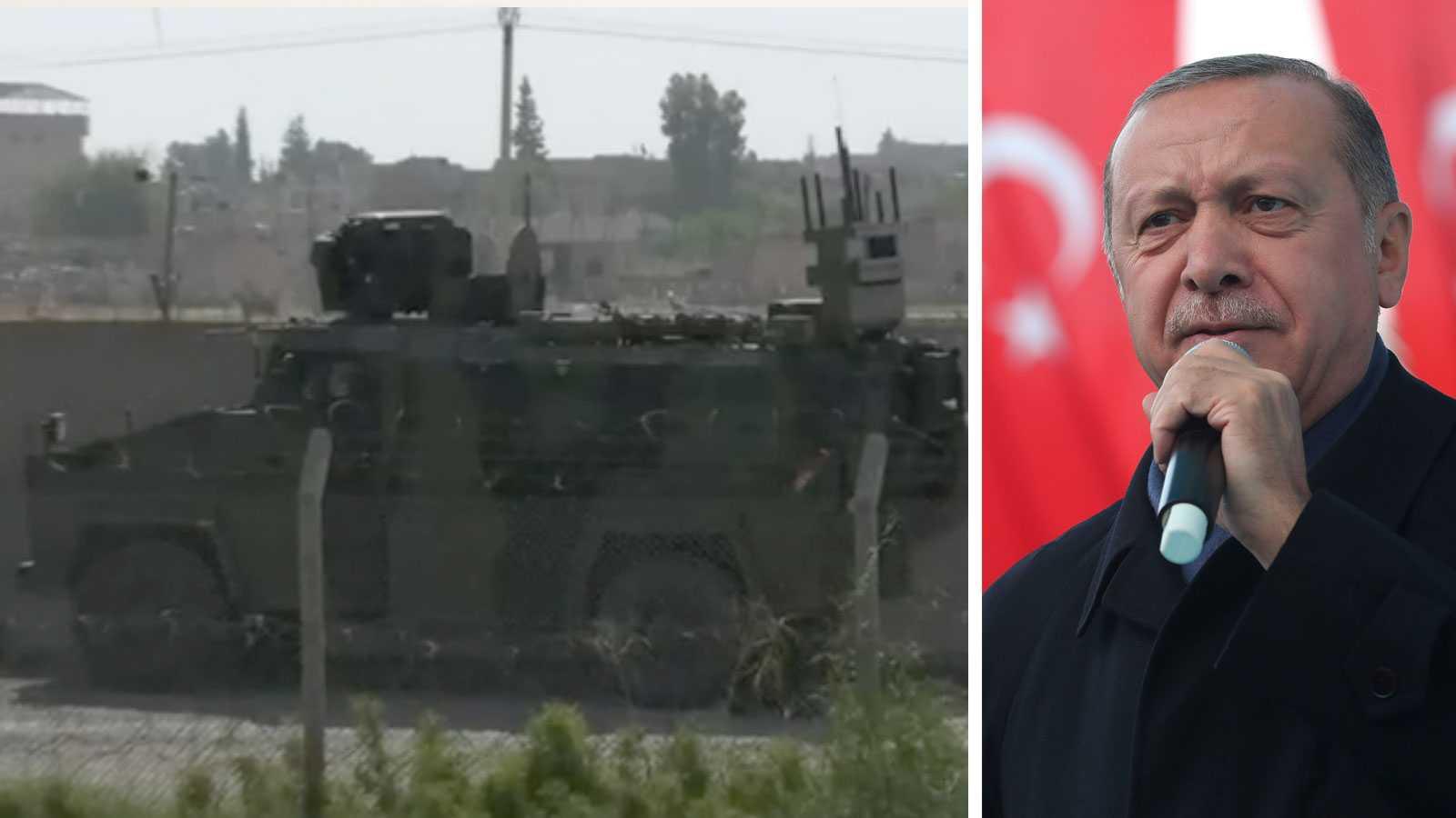 Erdogan bekräftar: Turkiska trupper har gått in i Syrien