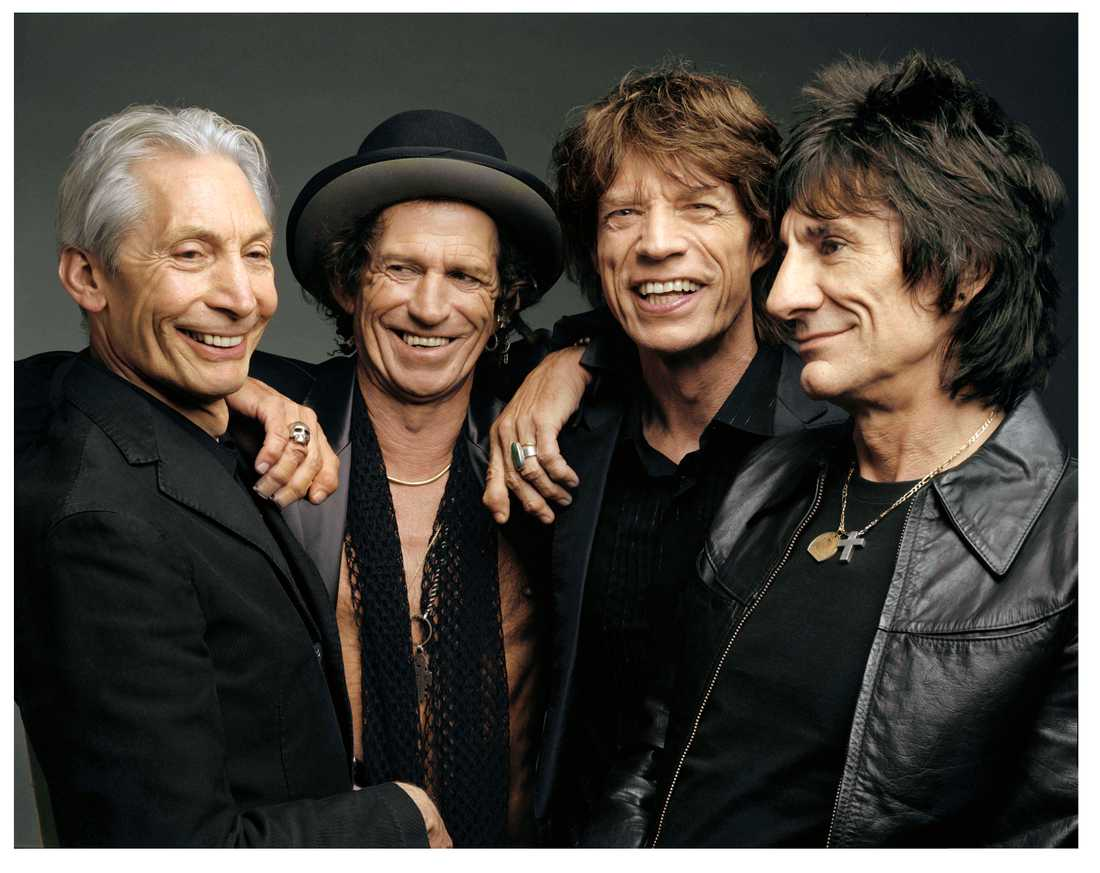 Rolling Stones vid ett tidigare tillfälle.