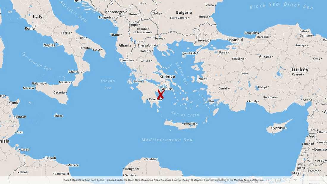 Poros, Grekland.