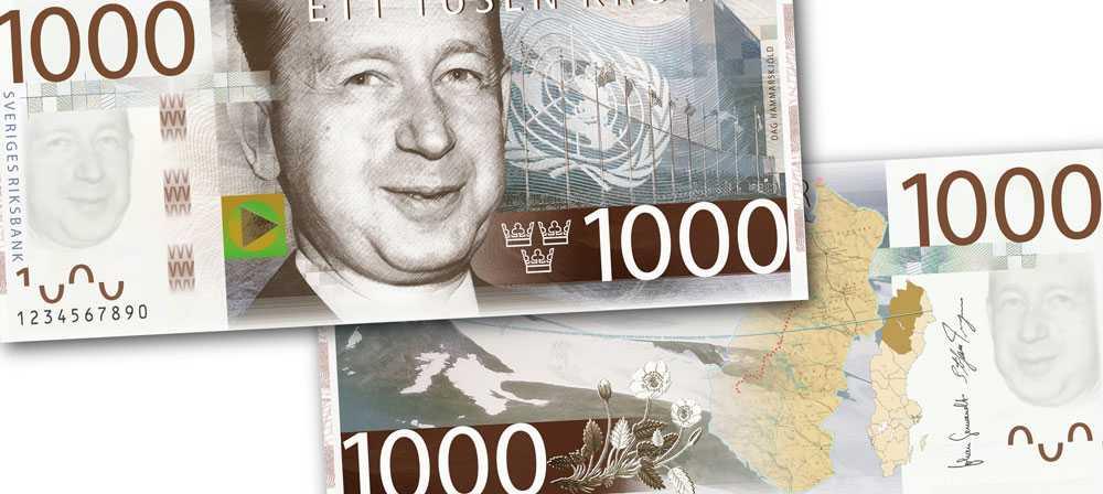 Dag Hammarskjöld på 1000-lappen.