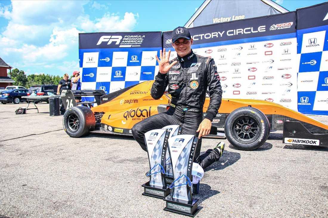 Fem race - fem segrar för Lundqvist som leder mästerskapet