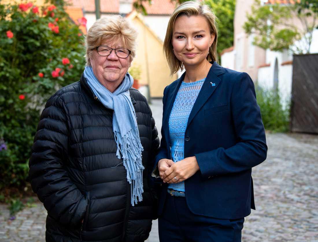 Aftonbladets Lena Mellin och Kristdemokraternas partiledare Ebba Busch Thor.