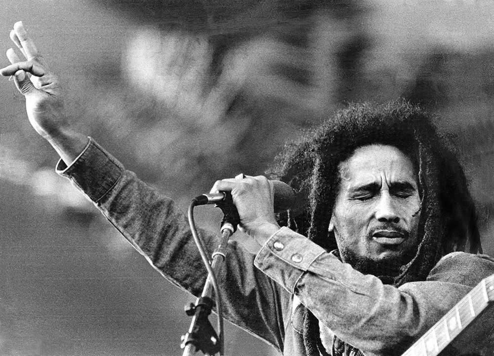 Bob Marley uppträder på Gröna Lund