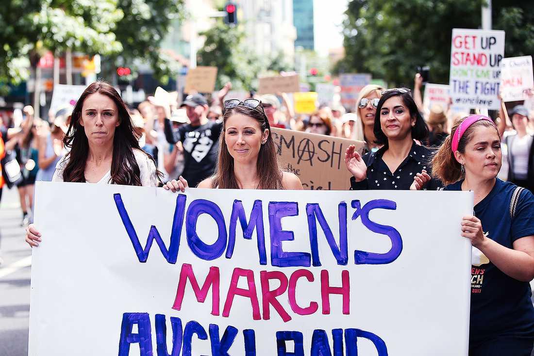 Demonstration i Auckland, Nya Zeeland.