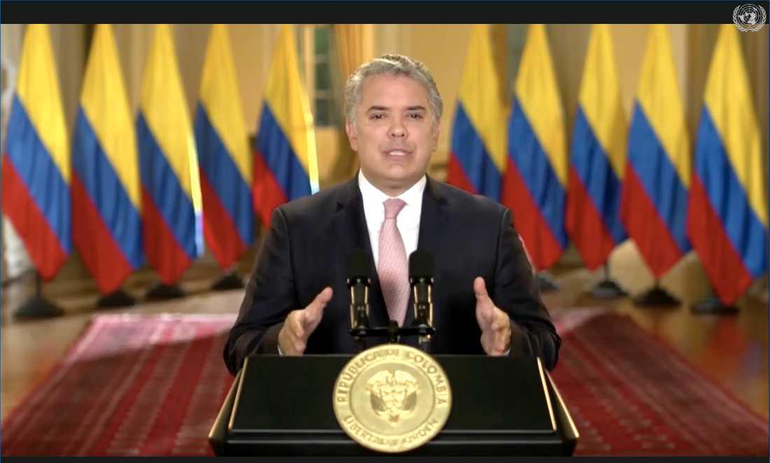 Colombias president Ivan Duque. Arkivbild.
