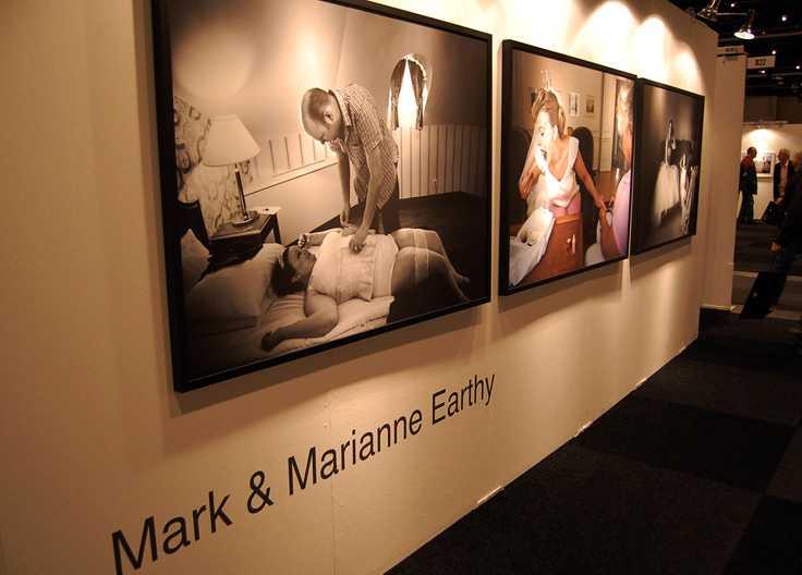 Marianne och Mark Earthys utställning med bröllopsfotografier på Fotomässan.