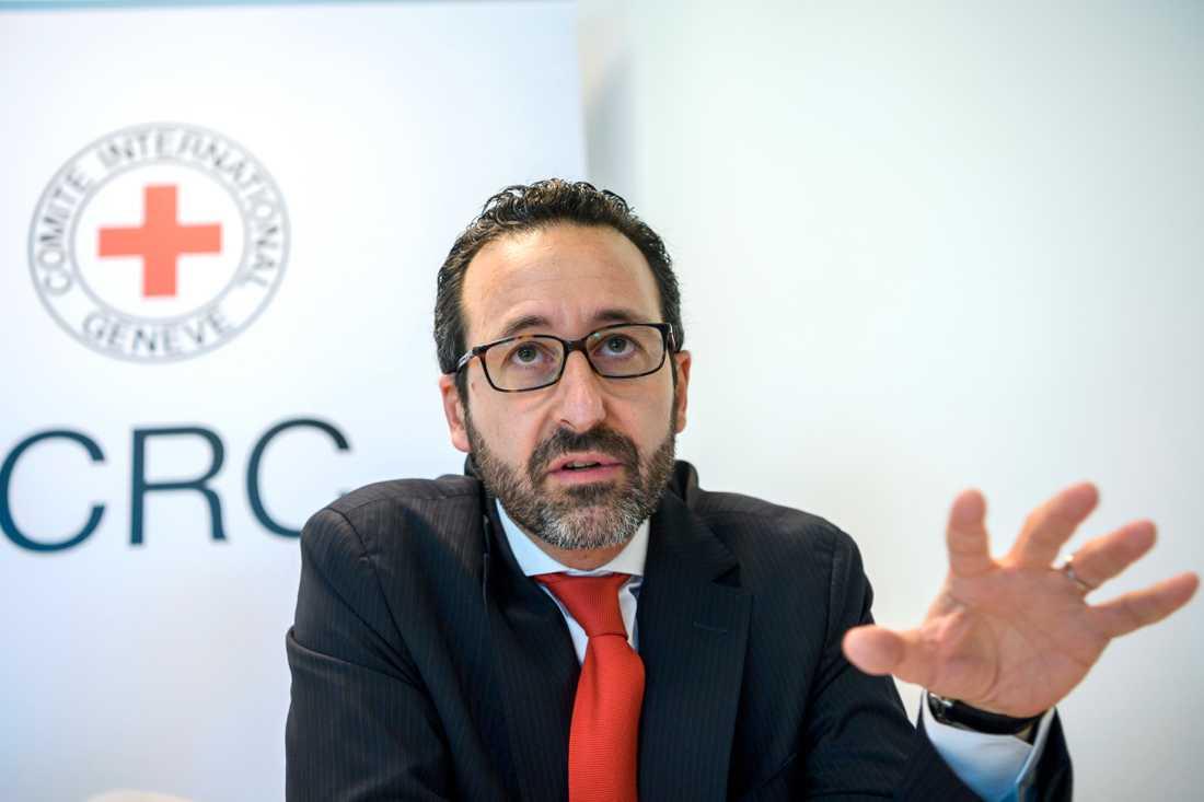 Robert Mardini, generaldirektör för Internationella rödakorskommittén. Arkivbild.