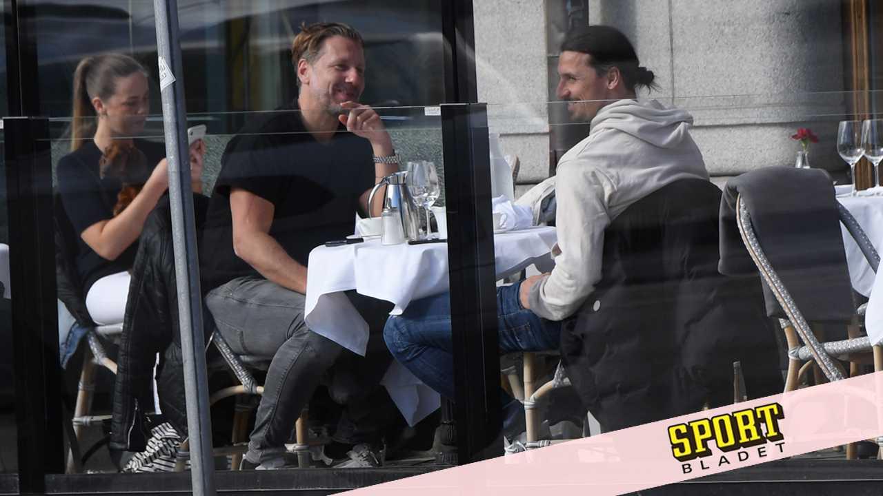 Mötet med Zlatan på uteserveringen