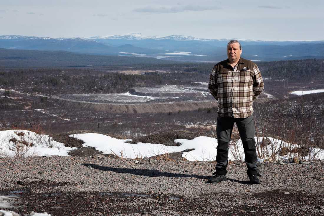 Per-Erik Stenberg, ordförande för Laevas sameby.