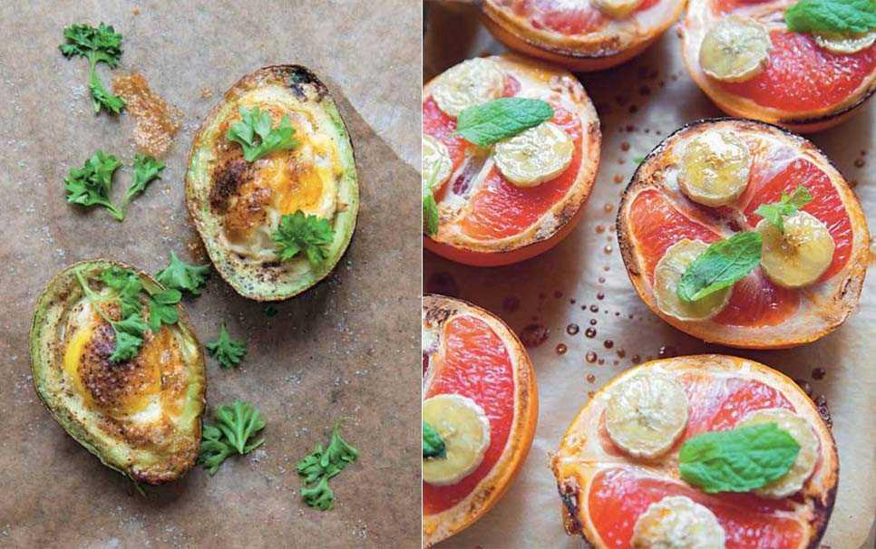 Gratinerad avokado och grapefrukt ur boken En god morgon.