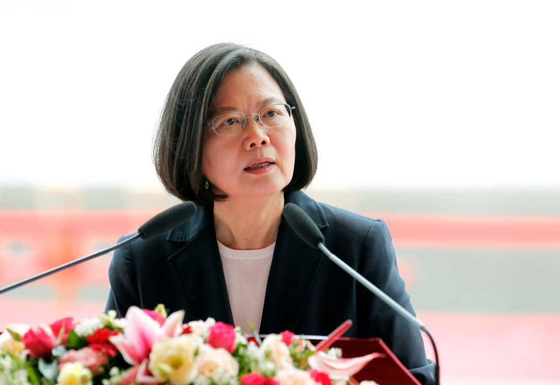 Taiwans president Tsai Ing-Wen. Arkivbild från den 9 maj.
