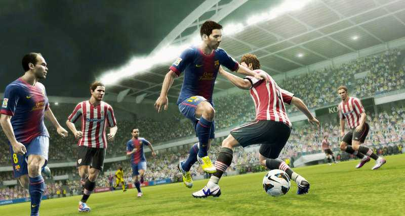 """""""Pro evolution soccer"""" är en av Konamis största serier."""