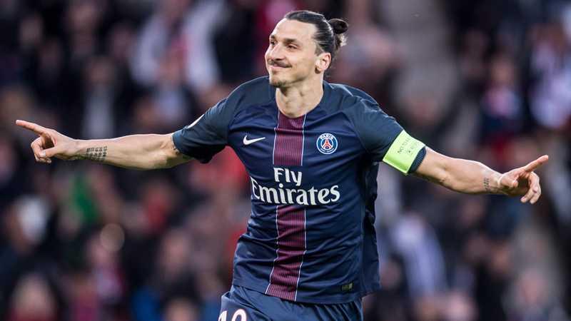 Zlatan Ibrahimovic under sin sista match i PSG