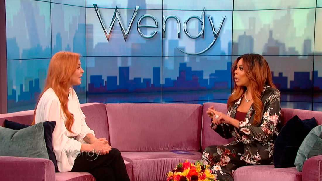 "Lohan i ""The Wendy Williams Show"" ."