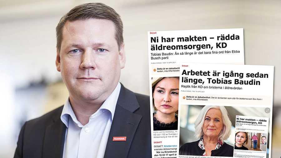 Att KD säger sig agera i riksdagen är bra, men riksdagen kan endast besluta om äldreomsorgens förutsättningar, det är trots allt Sveriges 290 kommuner som själva styr sin äldreomsorg. Och i 152 av dessa styr KD. Slutreplik från Tobias Baudin.