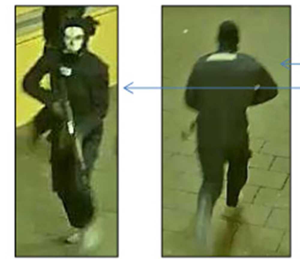 De beväpnade männen var iklädda masker under skjutningen.