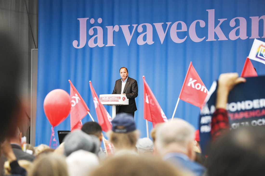 Stefan Löfven höll tal vid fjolårets Järvavecka
