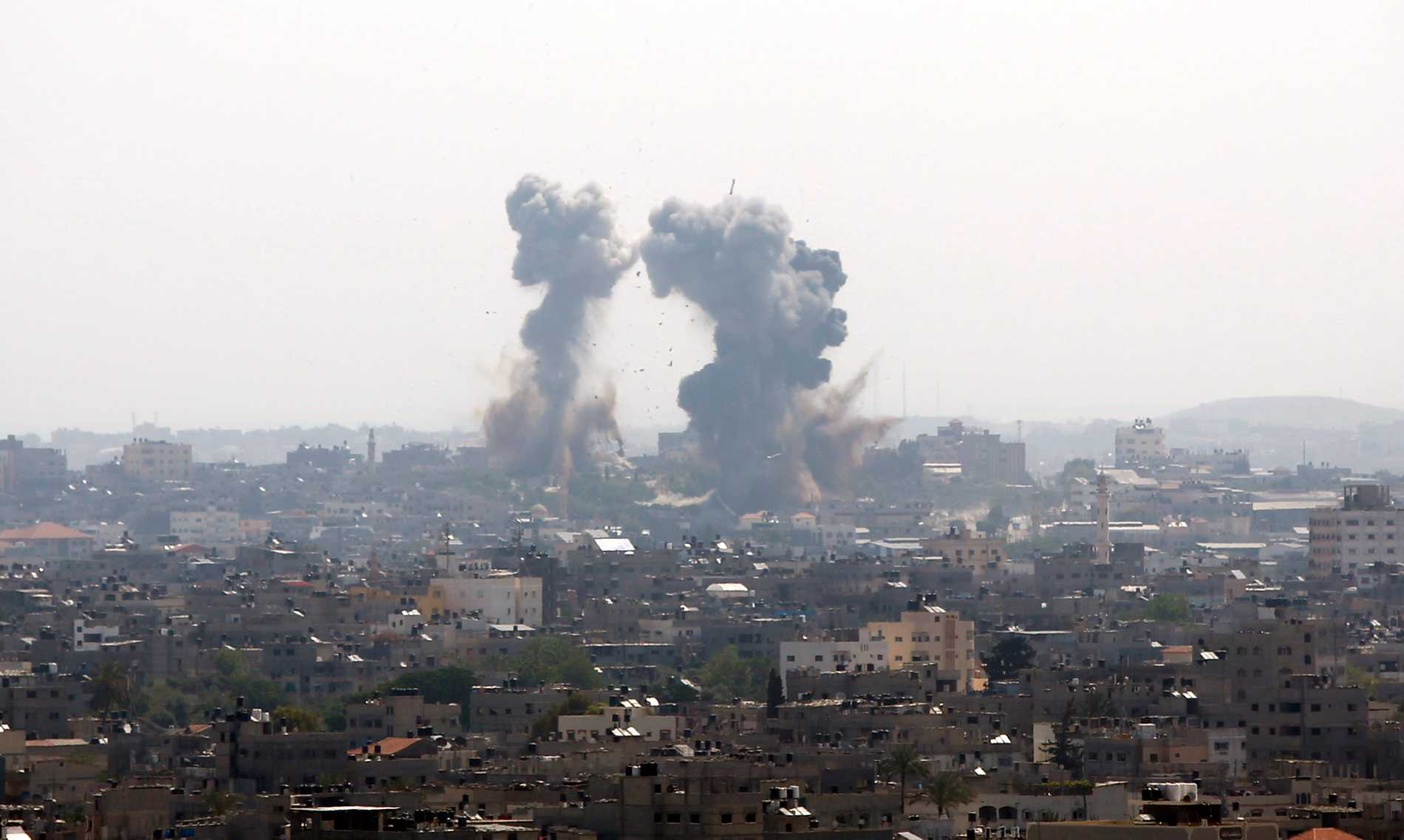 Rökutveckling i Gaza under tisdagsmorgonen