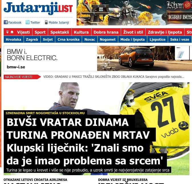 Kroatiska Jutarnji list.