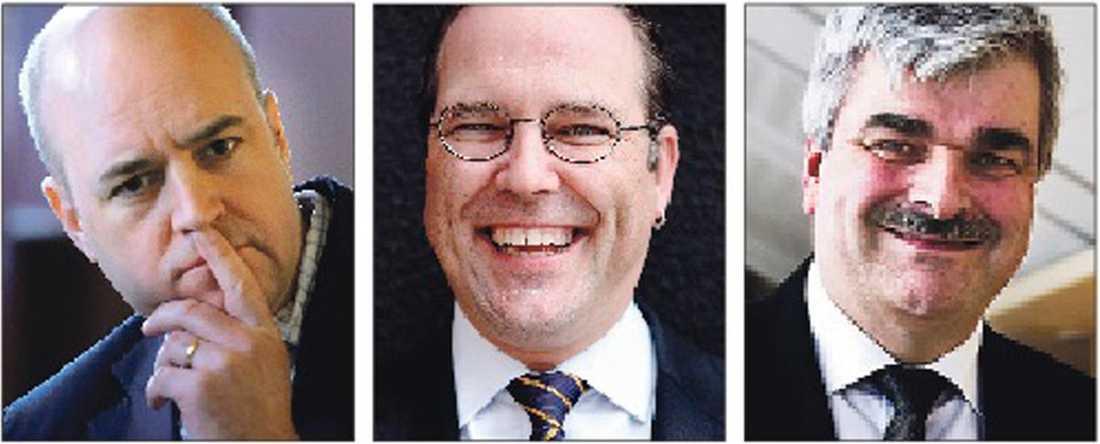 Fredrik Reinfeldt, Anders Borg och Håkan Juholt.
