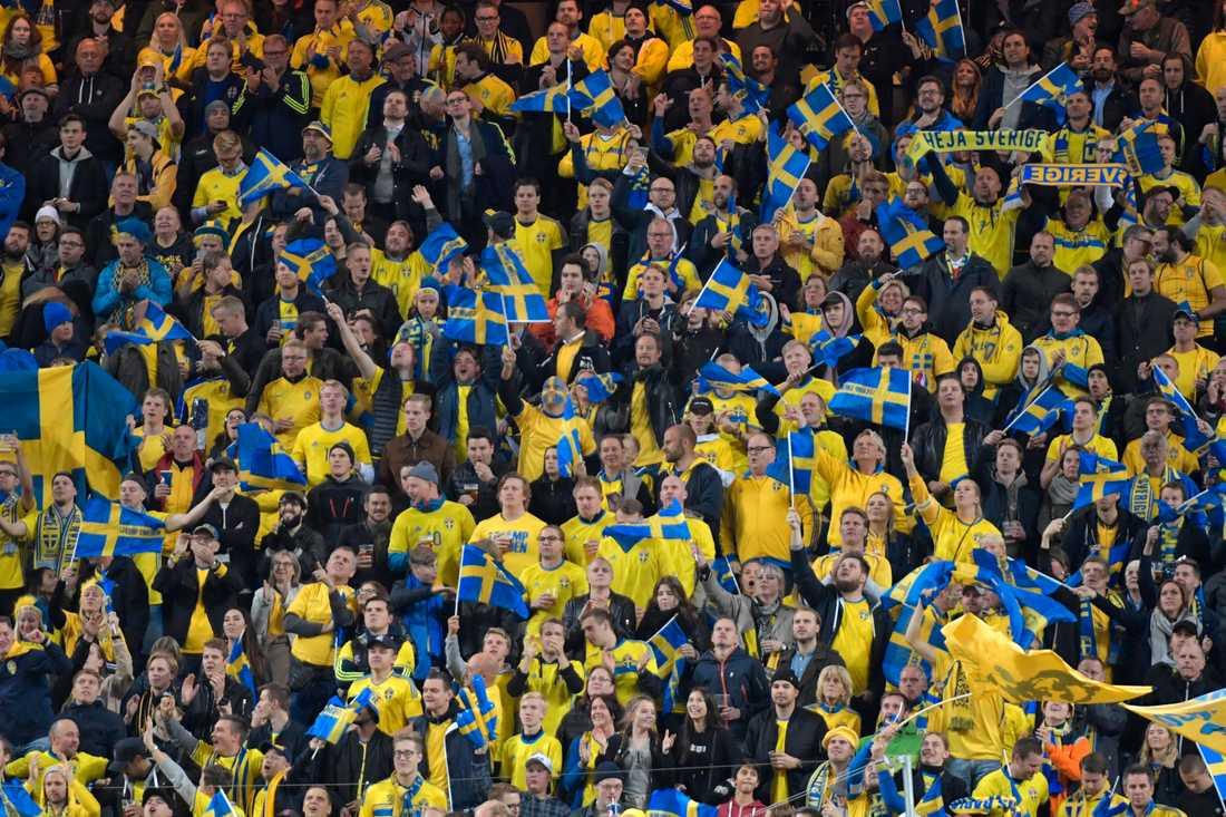 Större publiksamlingar på idrottsevenemang i Sverige dröjer. Arkivbild.