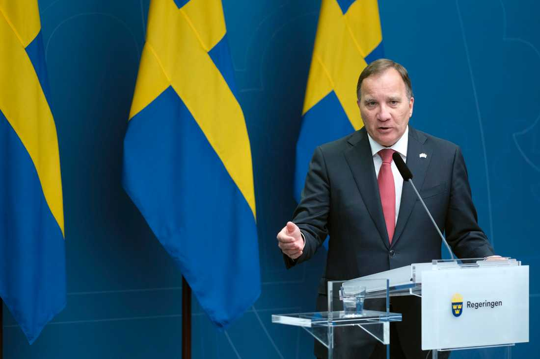 Statsminister Stefan Löven (S) räknar med tuffa förhandlingar om EU:s budget. Arkivbild.