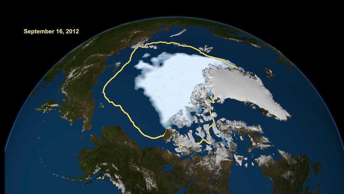 Sommarisen på Arktis har minskat kraftigt under de senaste decennierna.