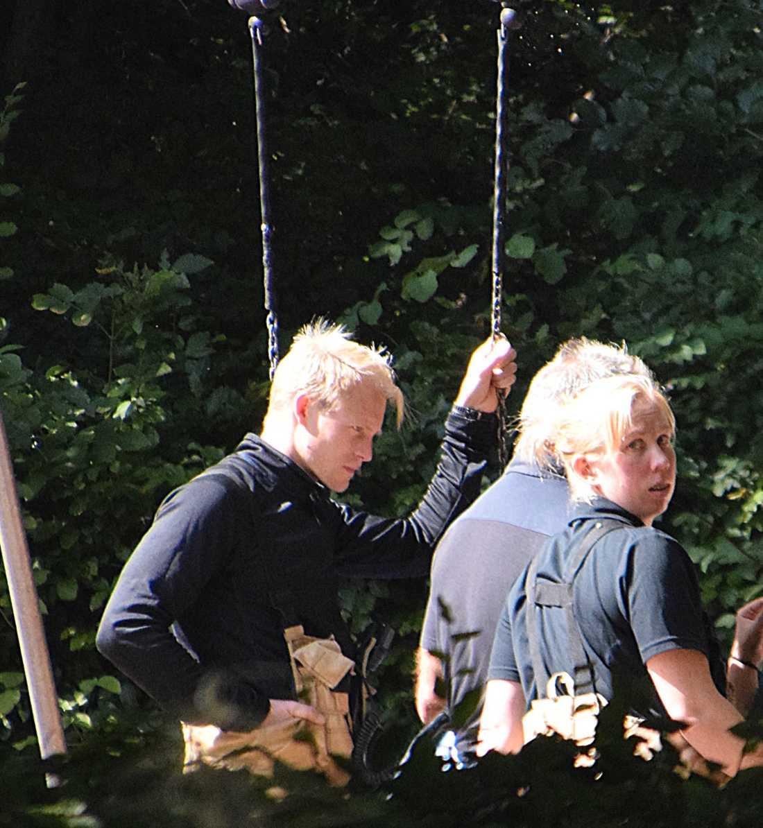 Räddningspersonal från en utryckning till en gunga i Trelleborg tidigare i veckan.